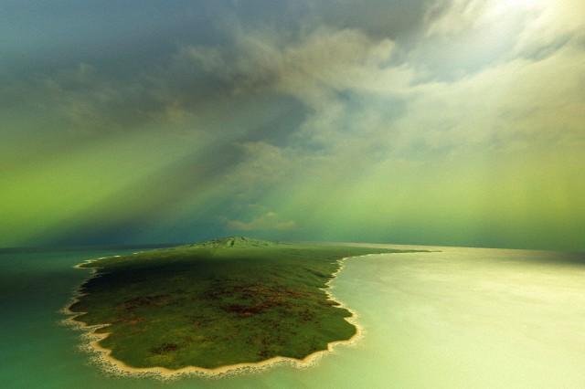 A beautiful Island in the ocean
